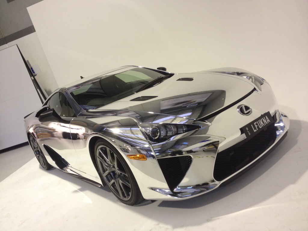 Worlds First Chrome Lexus Lfa